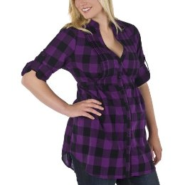 Pure Energy Plus Pintuck Tunic- Purple