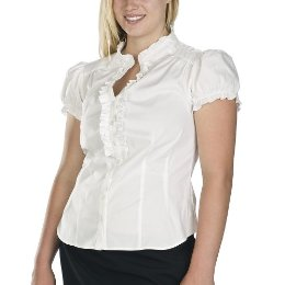 Pure Energy Plus Short Sleeve Ruffle Shirt
